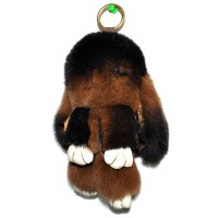 """Меховой брелок """"Зайчик"""" (кролик) 18 см на сумку -83"""