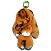 """Меховой брелок """"Зайчик"""" (кролик) 18 см на сумку -84"""