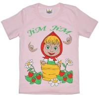 """Футболка детская """"Маша"""" для девочки (светло-розовый)"""