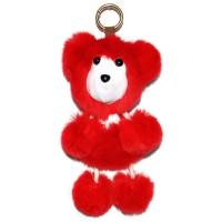 """Меховой брелок """"Медвежонок"""" на сумку -06"""