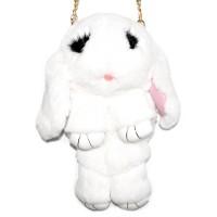 """Меховая сумка рюкзак """"Кролик"""" (белый)"""