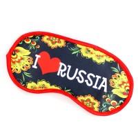 """Маска для сна """"Люблю Россию"""""""
