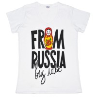 """Футболка женская """"From Russia with love"""""""
