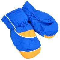 """Варежки детские """"Сетка"""" (blue & yellow)"""