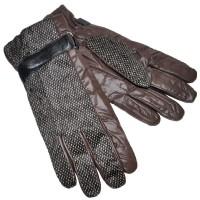 Перчатки мужские, комбинированные (brown)