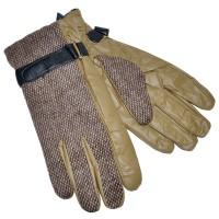 Перчатки мужские, комбинированные (khaki)