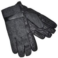 Перчатки мужские, комбинированные (black)