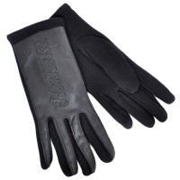 Перчатки женские, комбинированные -01