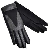 Перчатки женские, комбинированные -04