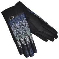 Женские перчатки для сенсорных экранов, комбинированные (black)