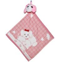 """Полотенце с головой собаки, кухонное, махровое """"Два щенка"""", цвет розовый"""