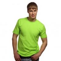 Футболка однотонная, классическая, цвет светло-зеленый