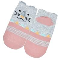 "Носки женские, короткие ""Тигра"" (pink)"
