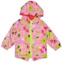"""Куртка-ветровка детская с подкладкой """"Пчелка и бабочка"""" (розовый)"""