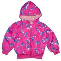 """Куртка-ветровка детская с подкладкой """"Бабочка"""" (темно-розовый)"""