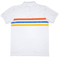 "Рубашка-поло ""Doston"" (белый, полоса)"