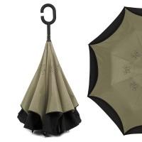 "Зонт наоборот ""Pasio"", хаки"