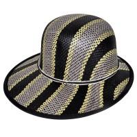 """Шляпа женская, плетеная """"Яркие полосы"""" -03"""