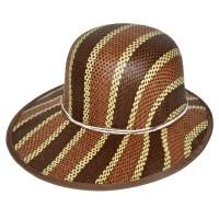 """Шляпа женская, плетеная """"Яркие полосы"""" -04"""
