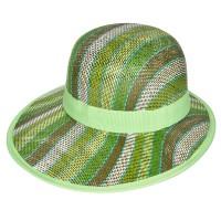 """Шляпа женская, плетеная """"Яркие полосы"""" -11"""
