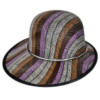 """Шляпа женская, плетеная """"Яркие полосы"""" -15"""