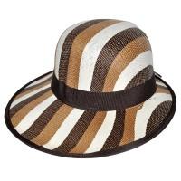 """Шляпа женская, плетеная """"Яркие полосы"""" -17"""