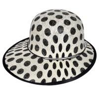 """Шляпа женская, плетеная """"Горох"""" -04"""