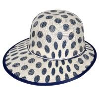 """Шляпа женская, плетеная """"Горох"""" -05"""