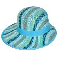 """Шляпа женская, плетеная """"Яркие полосы"""" -22"""