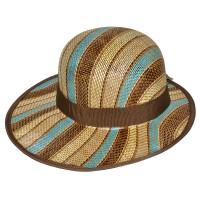 """Шляпа женская, плетеная """"Яркие полосы"""" -24"""