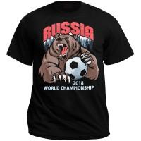 """Футболка """"Russia, world championship (медведь)"""""""