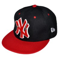 "Бейсболка ""New York"" (black/red)"