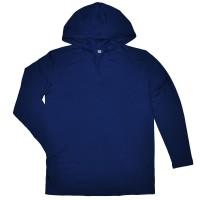 Кофта мужская с капюшоном, темно-синяя