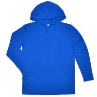 Кофта мужская с капюшоном, синяя