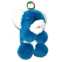 """Меховой брелок """"Панда"""" (кролик) 18 см на сумку -01"""