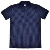 "Рубашка-поло ""Крапчатый"" (темно-синий)"