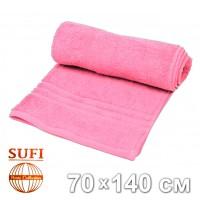 Полотенце махровое, банное SUFI (Индия), розовый
