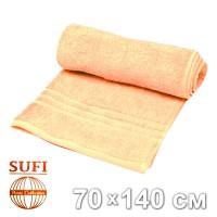 Полотенце махровое, банное SUFI (Индия), персиковый
