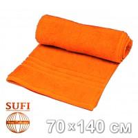 Полотенце махровое, банное SUFI (Индия), оранжевый