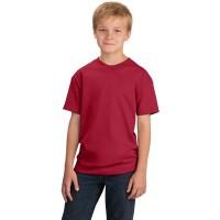 Футболка подростковая, однотонная, цвет бордовый