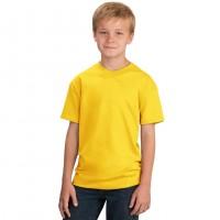 Футболка подростковая, однотонная, цвет желтый