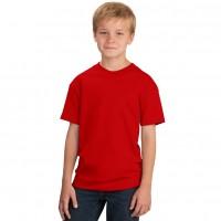 Футболка подростковая, однотонная, цвет красный