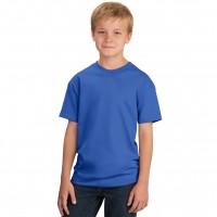 Футболка подростковая, однотонная, цвет синий
