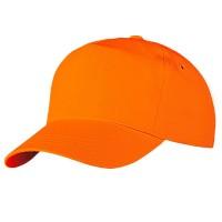 Бейсболка оранжевая (тонкая)