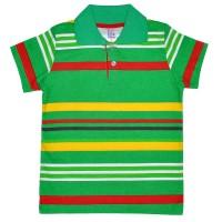 Рубашка-поло детская в полоску -01