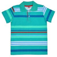 Рубашка-поло детская в полоску -03