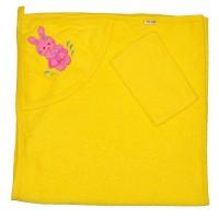 """Детское полотенце с капюшоном, махровое """"Зайка"""""""