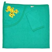 """Детское полотенце с капюшоном, махровое """"Жирафики"""""""
