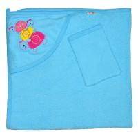 """Детское полотенце с капюшоном, махровое """"Черепашки"""""""