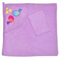 """Детское полотенце с капюшоном, махровое """"Два воробья"""""""